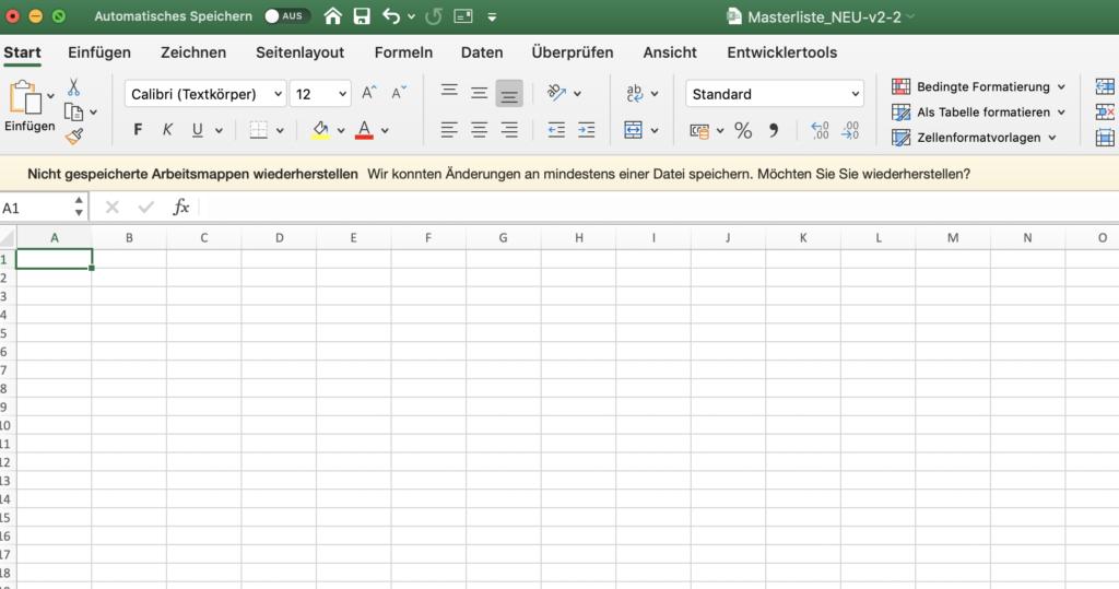 Excel als Analysetool